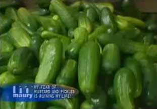 anything for ratings, even a girl's fear of pickles. Yes, pickles ...
